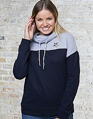 Cowl Neck Pullover Sweatshirt - Ladies