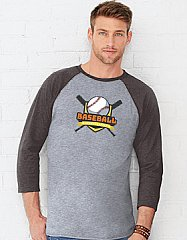 Custom-Printed Baseball Tee - Mens