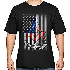 Mens - Square and Compass Flag T-Shirt