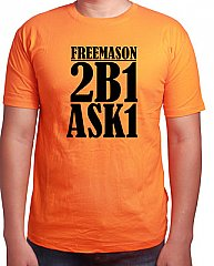 Mens - Bright Orange 2B1 ASK1 T-Shirt