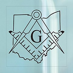 Ohio Freemasonry Clear Cling (2-Pack)