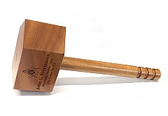 Engraved Masonic Common Gavel in Mahogany or Maple