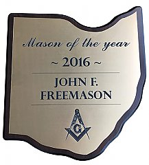 10.5 x 11.5 Large Ohio Plaque with Gold Engraved Plate